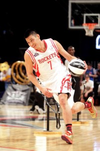 Jeremy Lin competes in All-Star skills competition